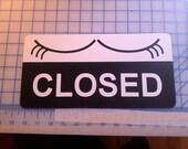 Open sign / Closed sign / Open Closed sign / aluminum sign / flip sign / shop sign