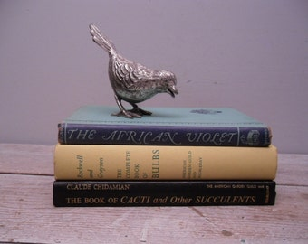vintage gardening book collection / set of three 3 / home decor