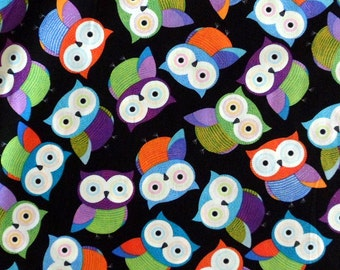 Owl Fabric , Cotton Material Owls ,  Timeless Treasures Sewing Fabric Quilting Fabric