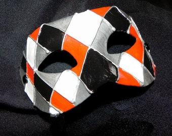 Masquerade Mask with Harlequin Design