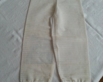SALE Vintage Dead Stock Cupid Never Worn White/Off White Stretch Pants Mate Size Medium Mid Century 1950s