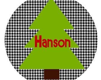 Houndstooth ChristmasTree iron ons iron on