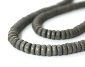 Grey Wood Rondelle 8mm x 4mm eco-friendly wooden beads (732R)