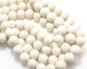 Whitewood, Natural Wood Beads, Round, Smooth, 14mm-15mm, Large, Full Strand, 28pcs - ID 1465