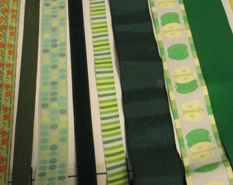 10 yards of assorted ribbons -- it can't get more green