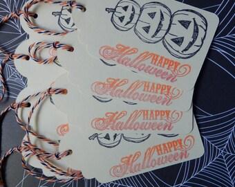 Happy Halloween - Triple Pumpkin- Hang and Gift Tags (8)
