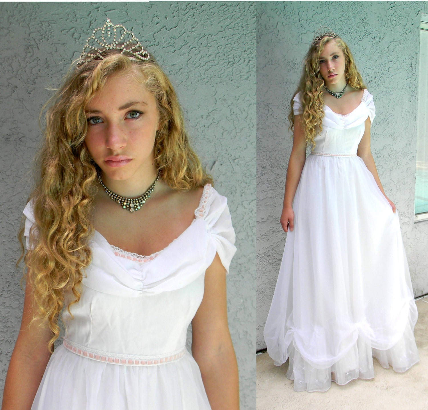 Vintage Wedding Dresses 80s: 80s Wedding Dress Or Princess Costume Vintage 80s Does 50s