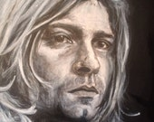 Unplugged // Kurt Cobain portrait // 12x12