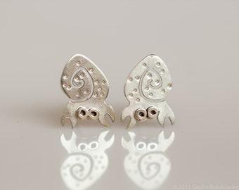 CRAB Sterling Silver Stud Earrings Mini Zoo series