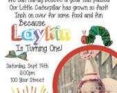 Custom Very Hungry Caterpillar Birthday Invite