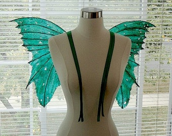 Fairy Wings-Emerald Green Fairy (Made to Order by Request)