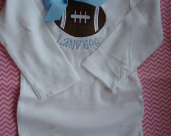 Personalized Football Applique Onsie