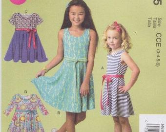 McCall's Sewing Pattern M6915 Chidren's/Girls' Dresses New UNCUT