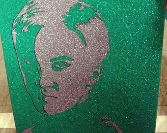 Bad Boy Wizard Glitter Art - Close-Up Witchcraft Wizard