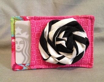 Mother's Day Gift Card Holder in Hot Pink and Black