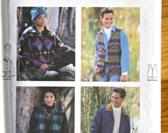 Simplicity 9139 Teen and Adult Jacket Vest and Hat Sewing Pattern Sports