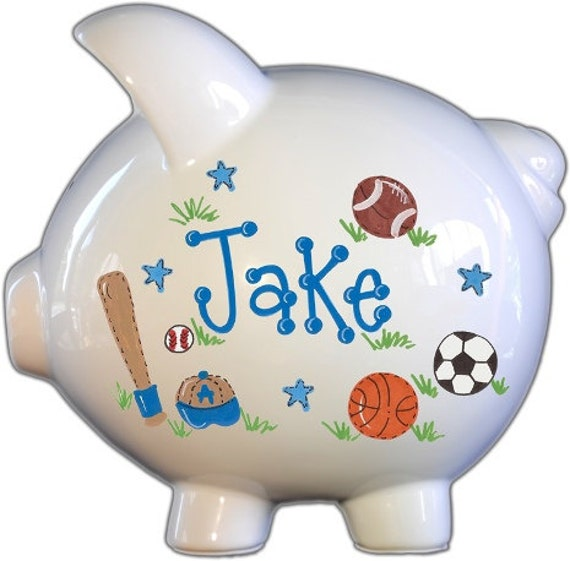 All Star Sports Design Personalized Piggy Bank