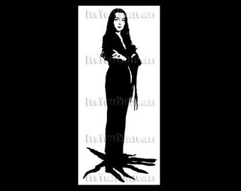 Morticia Silhouette, Addams Family Cross Stitch, Morticia Cross Stitch, Halloween Cross Stitch, Halloween from NewYorkNeedleworks on Etsy