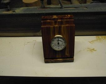 Clock made of cedar