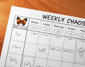 Family Weekly Calendar, Family Calendar, Important Dates Planner, Family Organizer, Schedule Family Events, Family Activities, PRINTABLE