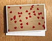 Happy Anniversary CARD, Anniversary Card, Original Photo Mounted on Heavy Weight Card Stock. Hearts, Love, Anniversary, Wedding Anniversary