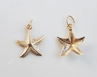 2 pcs 14K gold filled Starfish charms (11x13mm)