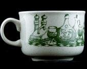 Vintage Soup Cup - Mug Churchill Menu Vegetables Dinner Serving Kitchenware Winter