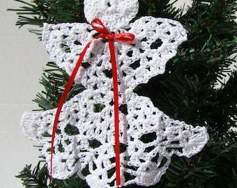 Christmas Angel thread crochet ornament