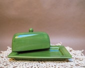 Foliage Green butter dish