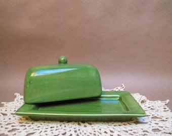 Foliage Green butter dish