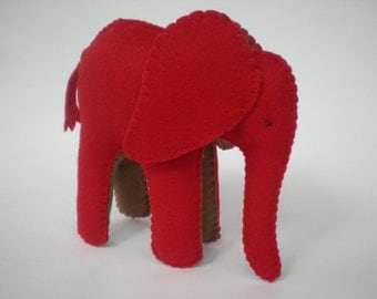 Felt Elephant - pdf sewing pattern