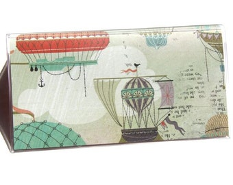 CHECKBOOK COVER - Steampunk Hot Air Balloons