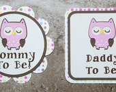 Mommy & Daddy To Be Button Pin for Baby Shower (Quantity 2)
