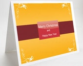 Christmas Card, Happy New Year Card, Swirly Belt
