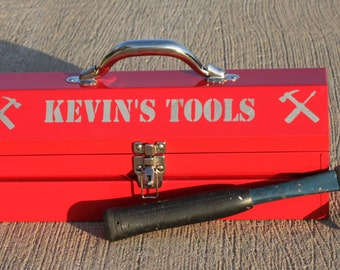 Personalized Tool Box - Custom Man's Gift- GUARANTEED for XMAS