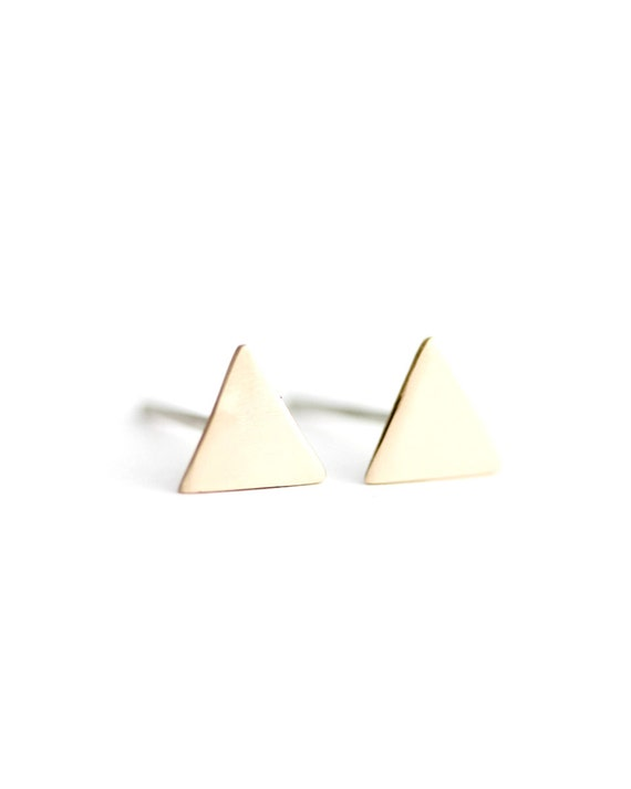 Back to Basics-Triangle Earrings in Bronze