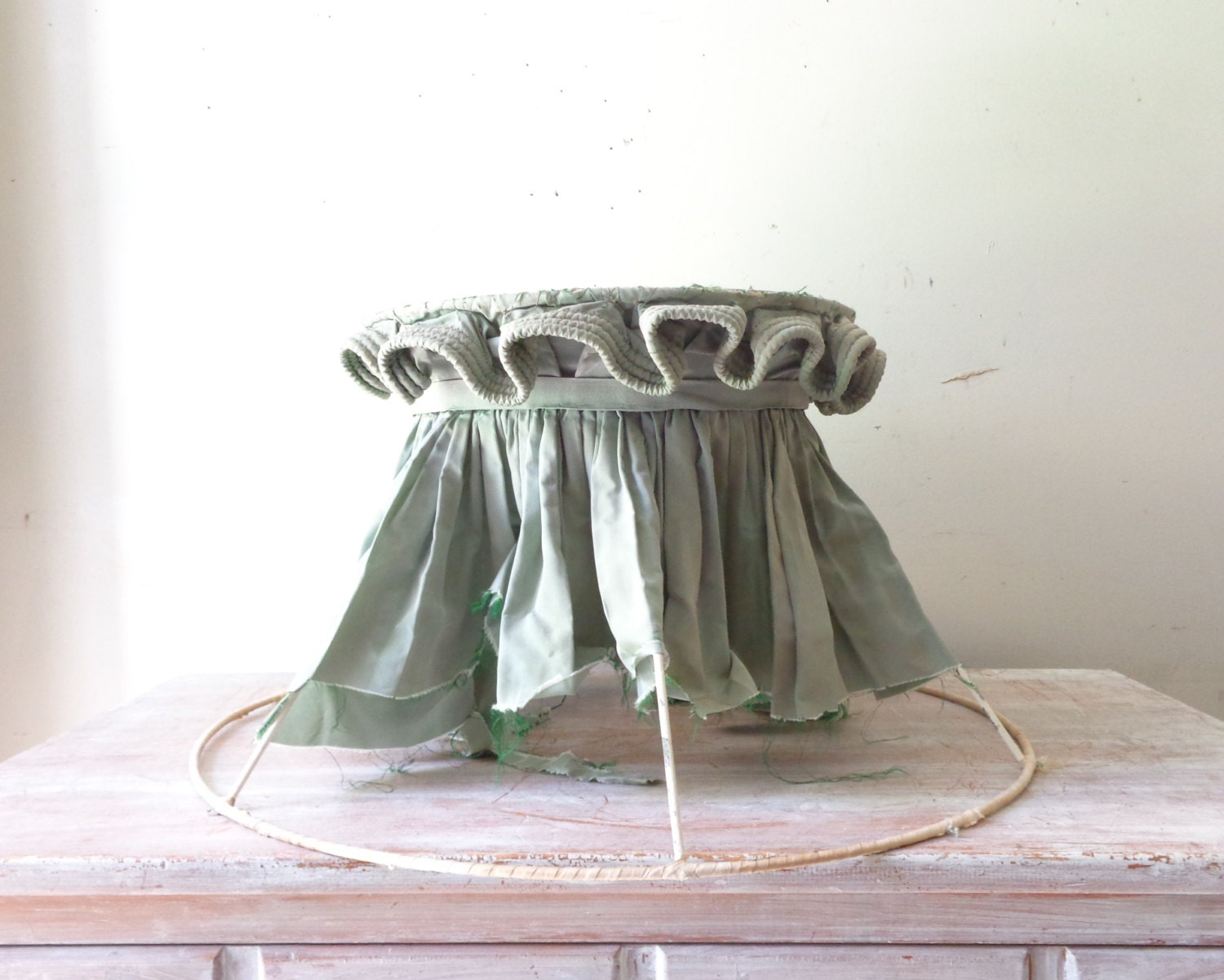 vintage extra large lamp shade frame with by thefoxandthespoon. Black Bedroom Furniture Sets. Home Design Ideas