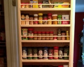Spice rack, door mounted or wall mounted, great organization item for your spices.
