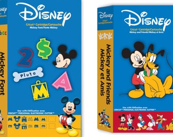 Cricut Cartridge Bundle | MICKEY FONT & FRIENDS Disney