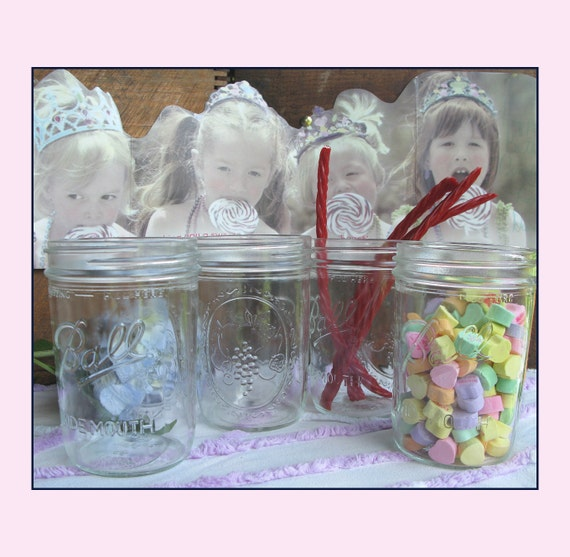 Items similar to vintage mason jar collection candy bar