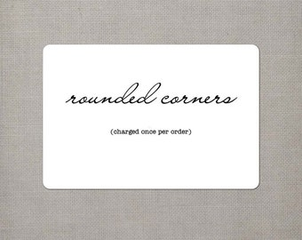 Rounded Corners - Order Add On
