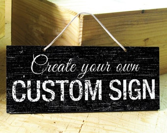 LONDON - Custom Signs in White, Brown, Blue, Navy, Black. Office Sign. Wedding Sign. Family Name Sign. Rustic Sign. Bar Sign. Coffee Shop