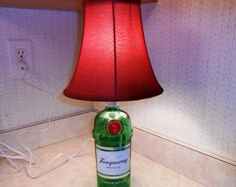 Recycled  Liquor Bottle Lamps by Kams-store.com