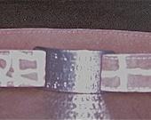 Leather Custom Tag Collar for Greyhounds - Mauve Crocodile