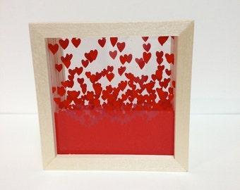 Box Shaped Heart Shadow Box (Small)
