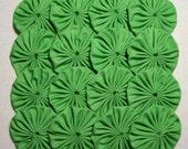 30 Spring Green 2 inch Yo Yos Applique Quilt Pieces Scrapbooking Embellishment