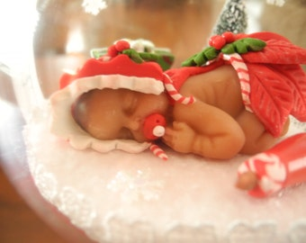 Baby's First Christmas Ornament- Dreamer Baby Girl