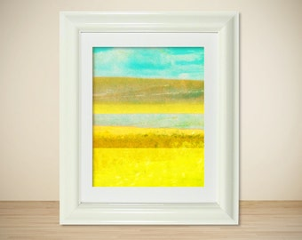 LOMO No. 9 // Modern Abstract Art Print, Color Field, Nature, Landscape, Mixed Media, Photography, Digital Print, Giclee, Wall Art