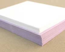 Blank Stationery Set with Lilac Envelopes - Set of 20 Flat A2 Size Cards