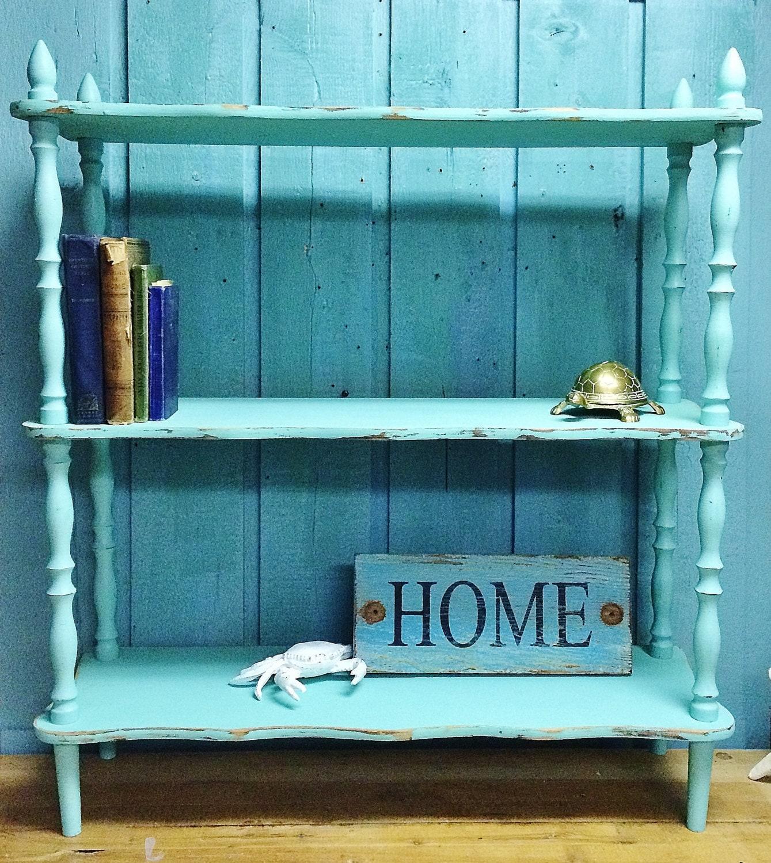 Shelf Spindle Bookcase Side Table Seafoam Spindle Furniture